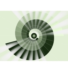 Spiral staircase green tunnel to the light vector