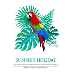 Summer holiday text poster vector