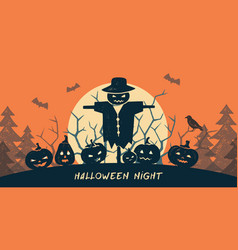 template halloween happy card or banner vector image