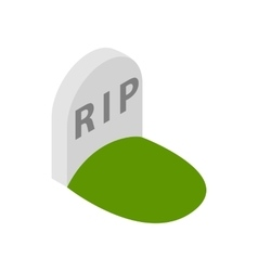 Tombstone with RIP icon isometric 3d style vector