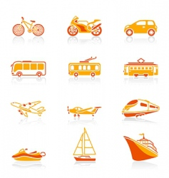 transportation icons | juicy vector image