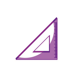Triangle ruler isolated vector