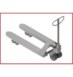 Trolley platform flat 3d vector image