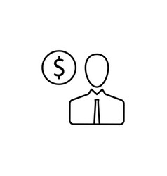 user man dollar icon element of finance signs vector image