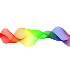 Wavy color lines vector image
