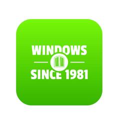 Window icon green vector