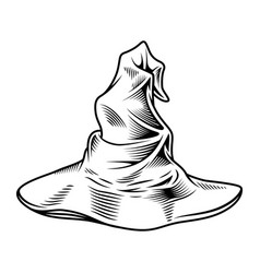wizard monochrome hat vector image