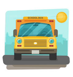 bus school art flat style vector image