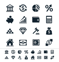 Financial investment icons vector