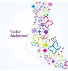 flowers and butterflies background vector image vector image