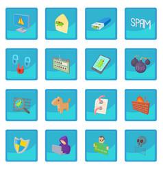 hacking icon blue app vector image vector image