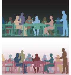 toned restaurant vector image vector image