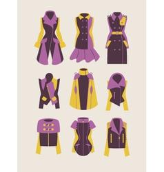 woman coats and jackets vector image vector image