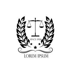 logo scales and crown logo of a notary vector image
