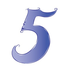 number 5 vector image