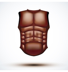 Brown leather ancient gladiator body armor vector