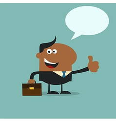 Happy Businessman Giving the Thumbs Up vector image vector image