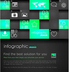 Infographic design template Ideal to display vector image vector image