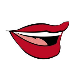 mouth woman lips makeup lipstick vector image