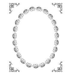 silhouette of floral frame vector image vector image