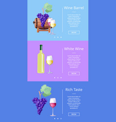 wine barrel and rich taste vector image