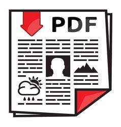 PDF icon2 vector image
