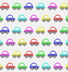 Seamless Pattern with Color Toy Car Background vector image