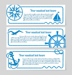 Set of nautical themed banners vector image