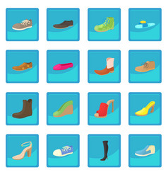 shoes icon blue app vector image vector image