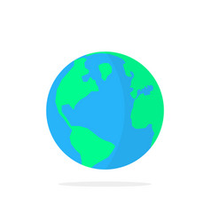 simple planet earth icon with shadow vector image