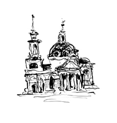 sketch drawing of historical building from Kyiv vector image vector image