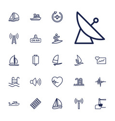 22 wave icons vector