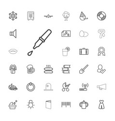 33 white icons vector
