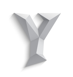 3d letter Y on white vector image