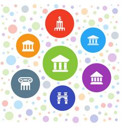 7 column icons vector