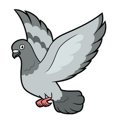 A flying pigeon vector