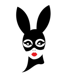 a woman wearing a mask vector image