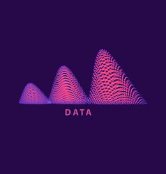Abstract data graphics made particles looks vector