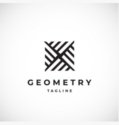 abstract geometric minimal sign symbol or vector image