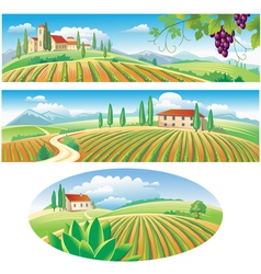 agriculture landscapes vector image