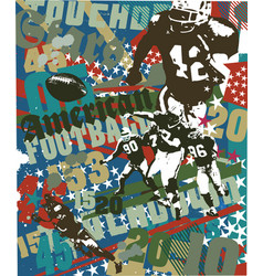 american football touchdown vector image