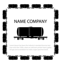 American style tank car vector image