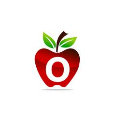 Apple letter o logo design template vector