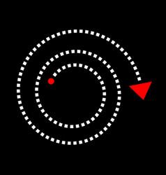 arrow in spiral shape vector image