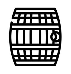 Barrel with gunpowder or rum line icon vector