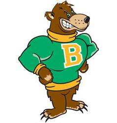 Bear sports team mascot logo vector