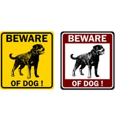 Beware dog sign vector