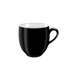 black coffee mug vector image