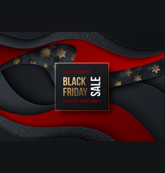 black friday sale banner with vector image