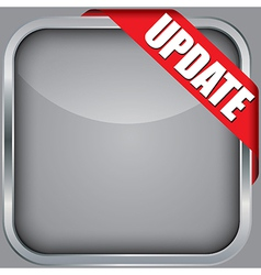 Blank app icon with update ribbon vector image